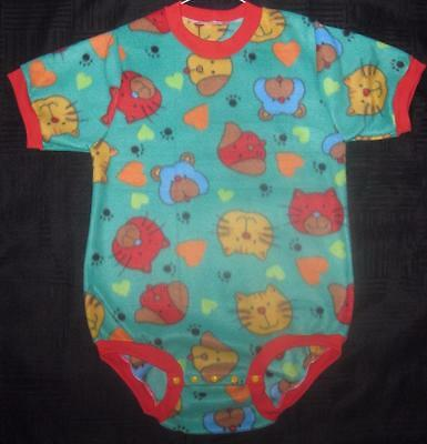 """Adult Baby 38"""" / 40"""" PETS (Cats and Dogs) Fleece Onesuit, by LL"""