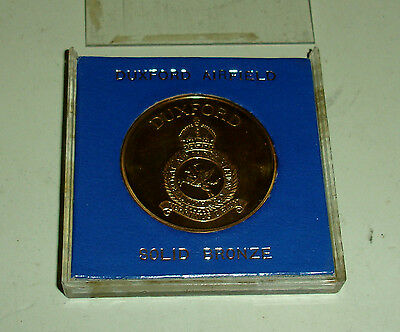 WW2 RAF Battle of Britain 1940 Duxford Airfield commemorative Solid Bronze Medal