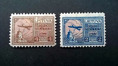 1922 Lithuanian Airmail stamps. - Mint lightly hinged