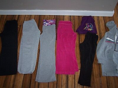 Lot of 7 Girls Play Clothes Sweatpants and More Size 7/8