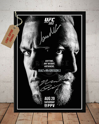 Conor Mcgregor Vs Nate Diaz Ii 2016 Ufc 202  Autographed Signed Photo Print