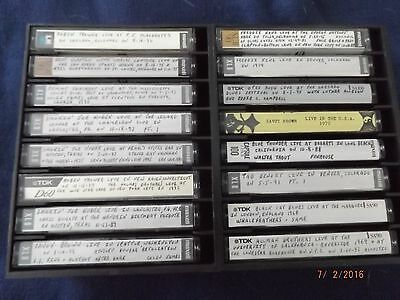 Lot Of 500 Used Cassette Tapes - Old Blues Concert Collection - Nice Condition