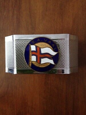 S A Vaal Union Castle Line Shipping Napkin Ring Vintage Collectable