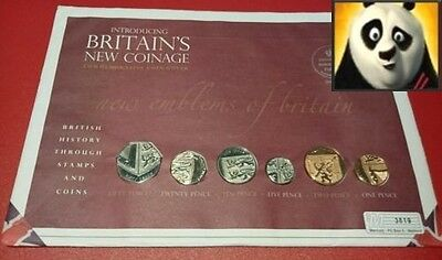 2008 SCARCE UK Emblems of Britain & Royal Shield of Arms Coin Set Cover PNC FDC