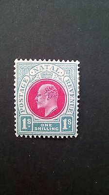1902 - Natal ONE SHILLING stamp ....South Africa, Rhodesia interest