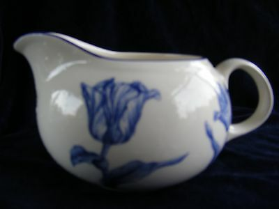 Royal Stafford Earthenware Blue and White Tulip Milk Jug - Please See Photos