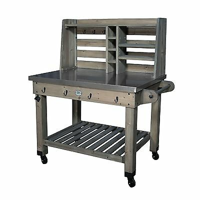 Outdoor Patio Cedar Wood Grilling Prep Station Rolling Serving Cart Table - Solar Oven: Easy To Transport Cooking Device €� $59.95 - PicClick