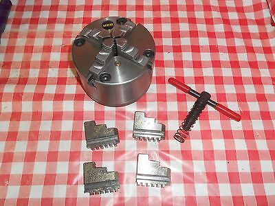 HBM 4 Jaw Self Centering Chuck with 2nd set of jaws. Direct from myford-stuff.