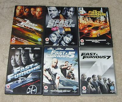 Fast And Furious DVD Bundle / Collection - 6 DVDs including Fast & Furious 7