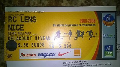 ★ RC Lens - OGC Nice (2005) ★ Collector's Ticket ★ Ligue 1, France Football Foot