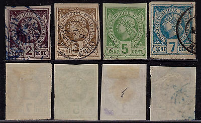 Haiti 1881 - Lot of used stamps