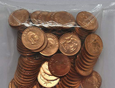 Zambia 1 Ngwee 1983 anteater 16mm Copper plated Steel Coins lot ALL UNC 100PCS