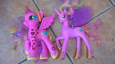 2 Talking, singing and light up my little pony toys