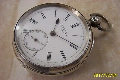 A SILVER CHAIN FUSEE POCKET WATCH BY GEORGE COOK OF LONDON c.1886