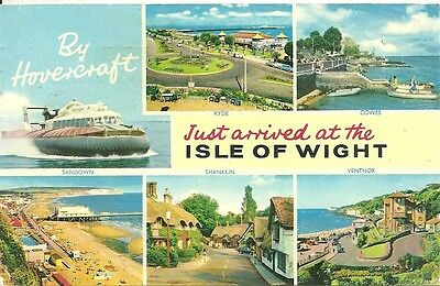 Old Postcard: Just arrived in the Isle of Wight by Hovercraft (5250)