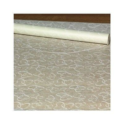 Double Heart Aisle Runner Wedding Ceremony White Bridal