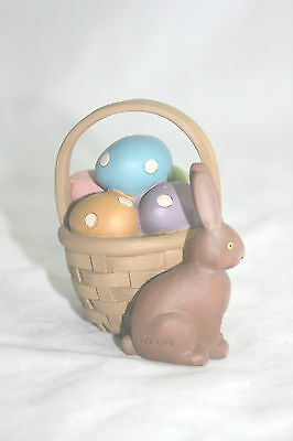 Blossom Bucket Figurine Chocolate Easter Bunny with Basket NEW