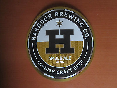 Pump Clip - Amber Ale, Harbour Brewing Co., Kirland, Bodmin, Cornwall