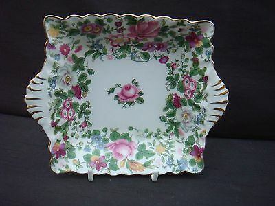 Vintage Crown Staffordshire Floral Chintz Handled Bowl Dish