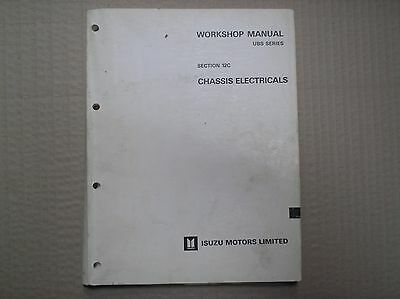 Isuzu genuin workshop manual section 12C chassis electricals UBS series Dec 1988