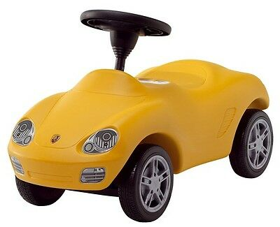 Porsche Boxster Genuine Ride-On/Push Toy Car Baby Racer Yellow