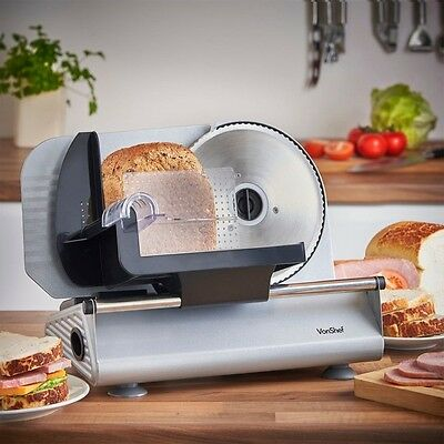 Vonshef Precision Electric Food Meat Slicer With 19 Cm Stainless Steel Blade New