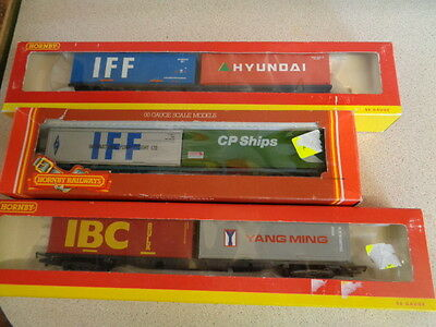 Oo Gauge Hornby Container Wagons...x....3................................#24#