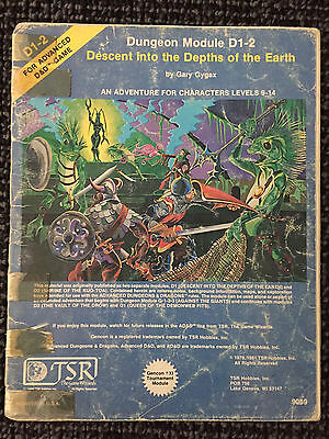 AD&D 1st Edition D1-2 Descent into the Depths of the Earth Adventure Gary Gygax