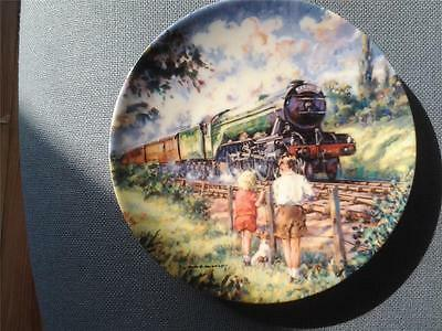 The Flying Scotsman Train Plate The Golden Age Of Steam Paul Gribble