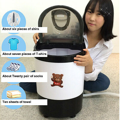 DAEWOONG POWER MOM Mini Washing Machine Portable Washer Spin Dryer 3kg UQW-4000D