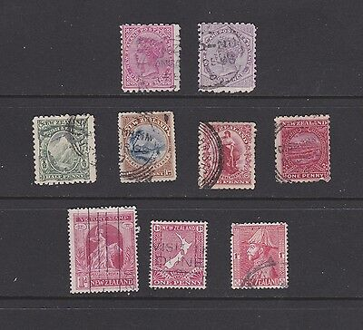 Stamps New Zealand used early selection including Victoria