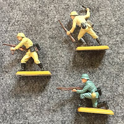 Britains Deetail Toy Soldiers - German Infantry x3, NCO, MG Gunner, Rifleman