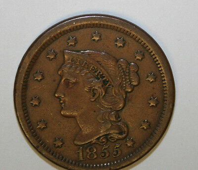 1855 Large Cent  (Knob Off Ear)  Y13