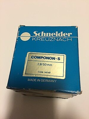 Beautiful! Schneider Kreuznach Componon S 50mm f2.8 In Box and Gorgeous!