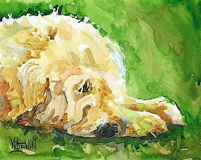 Wheaten Terrier Dog 11x14 signed art PRINT painting