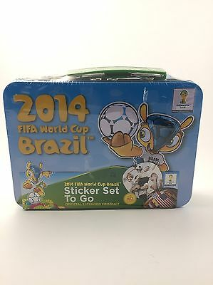 FIFA 2014 World Cup Brazil Sticker Set Tin Box Official Licensed Product