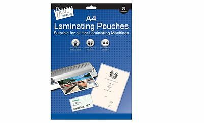 3* Just Stationery A4 Laminating Pouches 160Micron (pack of 8)
