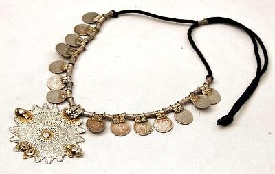Tribal Vintage Gypsy Rare Belly Dance Banjara Kuchi Coins Necklace