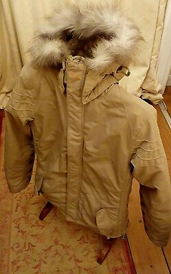 Women's Oakley Lined Warm Ski Coat Jacket With Faux Fur Hood Size M