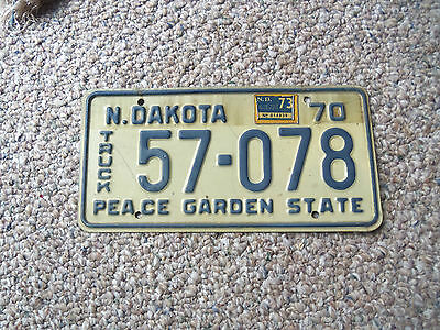 1970 1973  NORTH DAKOTA licence plate Truck 1970 Chev 73 Ford 73 Dodge 73 GMC