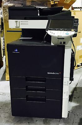 Konica Minolta BizHub C203 Color Copier Printer Scanner Fax LOW Print Count