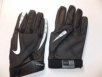 Nike Vapor Jet Synthetic Thermal Football Gloves, ADULT 4XL, PGF255, BLACK NEW