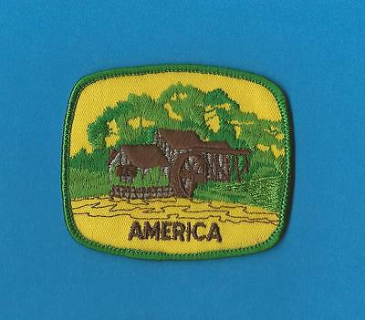 America USA Iron On Hat Jacket Hoodie Biker Vest Backpack Travel Patch Crest B