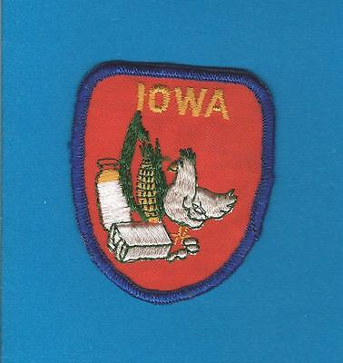 Iowa USA Sew On Hat Jacket Hoodie Biker Vest Backpack Travel Patch Crest A