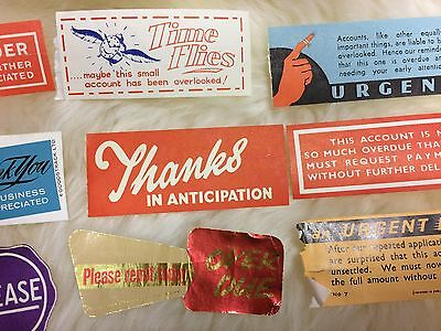 Vintage Collection : Typography Stickers Labels Signage Paper Art x 40 Pieces