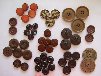 Selection of Craft Brown Buttons