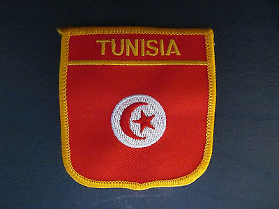 TUNISIA Shield Patch Hat Jacket Biker Vest Backpack Travel Country Crest