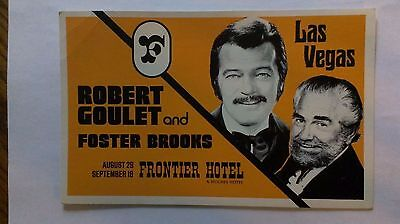 Robert Goulet and Foster Brooks - Frontier Hotel Postcard