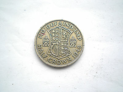EARLY  GEORGE V1- 1/2 CROWN COIN FROM THE UK DATED-1948 nice