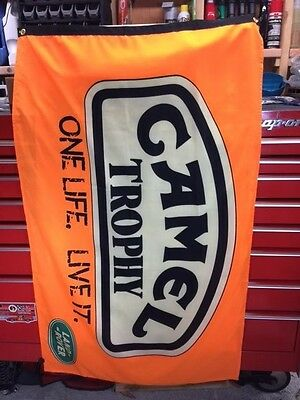 Camel Trophy Truck Flag Banner Rally Land Range Rover Discovery Dakar Expedition